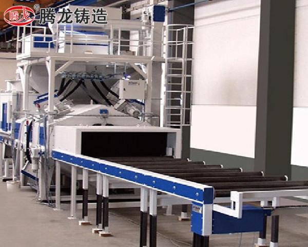 北京無地坑輥道通過式拋丸清理機
